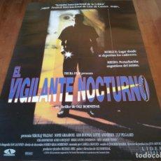 Cine: EL VIGILANTE NOCTURNO - NIKOLAJ COSTER-WALDAU, SOFIE GRÅBØL, KIM BODNIA - POSTER ORIGINAL AURUM 1994. Lote 235336200