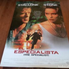 Cine: EL ESPECIALISTA - SHARON STONE, SYLVESTER STALLONE, JAMES WOODS - POSTER ORIGINAL WARNER 1994. Lote 235336900