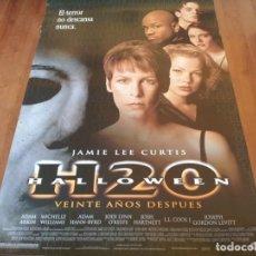 Cine: HALLOWEEN H20 VEINTE AÑOS DESPUÉS - JAMIE LEE CURTIS, JOSH HARTNETT - POSTER ORIGINAL LAUREN 1998. Lote 235339235
