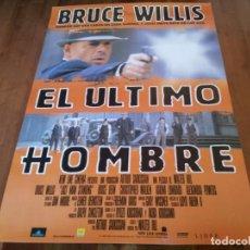 Cine: EL ÚLTIMO HOMBRE - BRUCE WILLIS, CHRISTOPHER WALKEN, BRUCE DERN - POSTER ORIGINAL AURUM 1996. Lote 235342490
