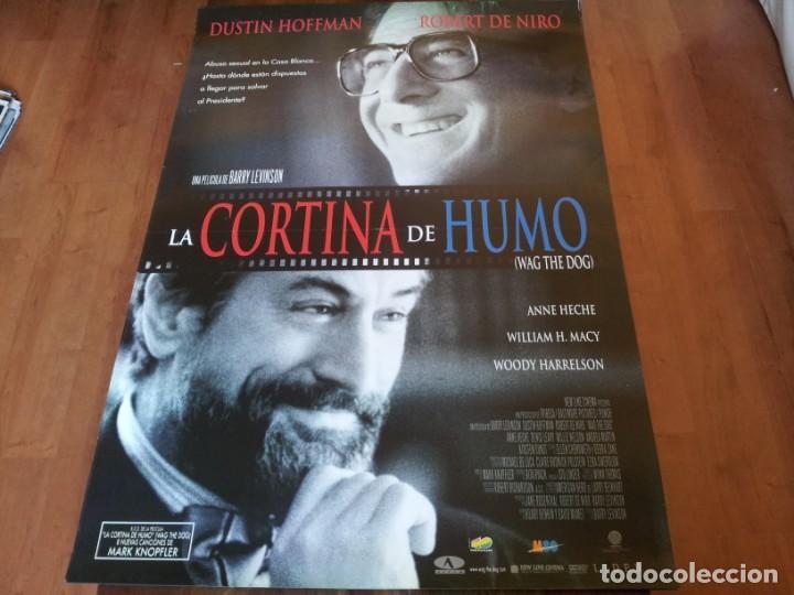 CORTINA DE HUMO - DUSTIN HOFFMAN, ROBERT DE NIRO, ANNE HECHE - POSTER ORIGINAL AURUM 1997 (Cine - Posters y Carteles - Comedia)