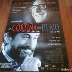 Cine: CORTINA DE HUMO - DUSTIN HOFFMAN, ROBERT DE NIRO, ANNE HECHE - POSTER ORIGINAL AURUM 1997. Lote 235345205