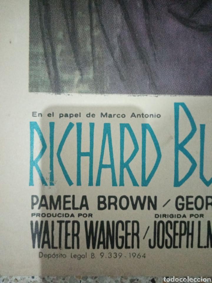 Cine: Cartel original español cleopatra, elisabeth Taylor, richard burton - Foto 3 - 235357115