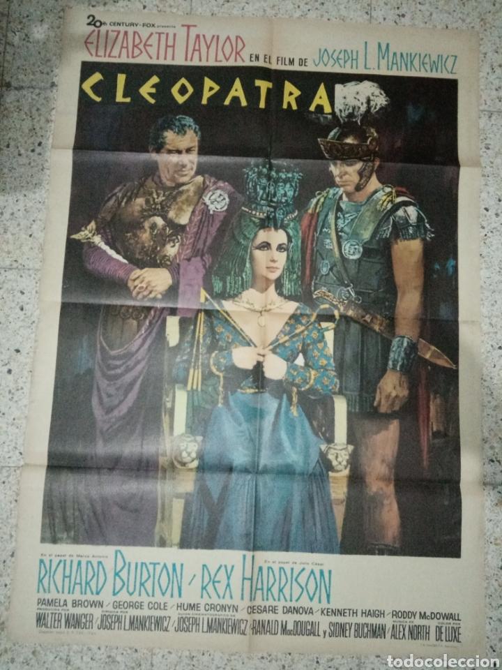 CARTEL ORIGINAL ESPAÑOL CLEOPATRA, ELISABETH TAYLOR, RICHARD BURTON (Cine - Posters y Carteles - Documentales)