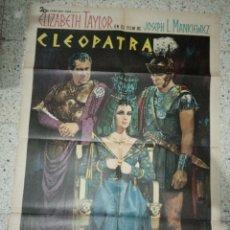 Cine: CARTEL ORIGINAL ESPAÑOL CLEOPATRA, ELISABETH TAYLOR, RICHARD BURTON. Lote 235357115