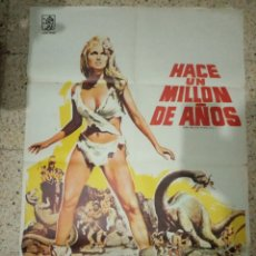 Cine: CARTEL ORIGINAL ESPAÑOL HACE UN MILLON DE AÑOS, RAQUEL WELCH. Lote 235359670