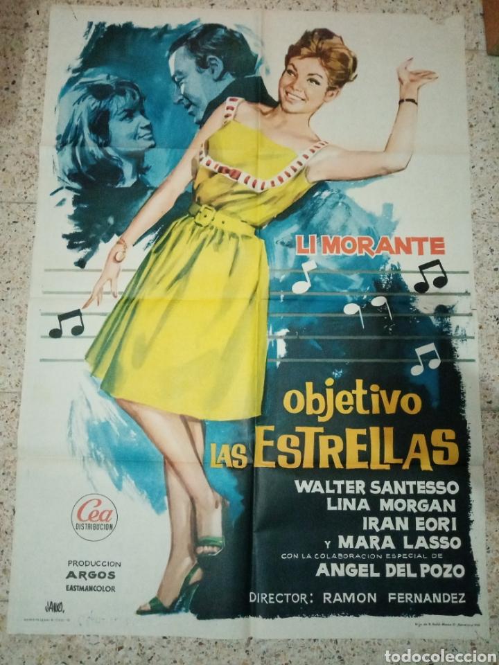 CARTEL CINE ORIGINAL ESPAÑOL OBJETIVO LAS ESTRELLAS, JANO, LI MORANTE, LINA MORGAN, RAMON FERNANDEZ (Cine - Posters y Carteles - Comedia)