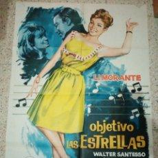 Cine: CARTEL ORIGINAL ESPAÑOL OBJETIVO LAS ESTRELLAS, JANO, LI MORANTE, LINA MORGAN, RAMON FERNANDEZ. Lote 235370345