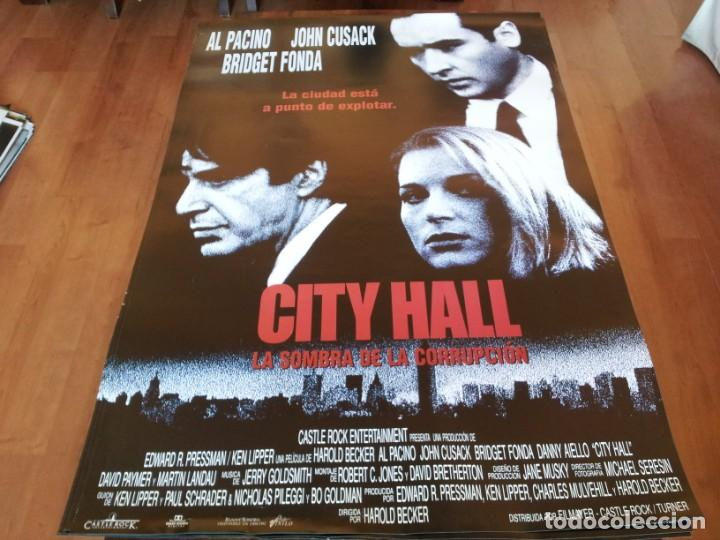 CITY HALL - JOHN CUSACK, AL PACINO, BRIDGET FONDA, DANNY AIELLO - POSTER ORIGINAL FILMAYER 1995 (Cine - Posters y Carteles - Suspense)