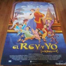 Cine: EL REY Y YO - ANIMACIÓN - POSTER ORIGINAL AURUM 1999. Lote 235427590