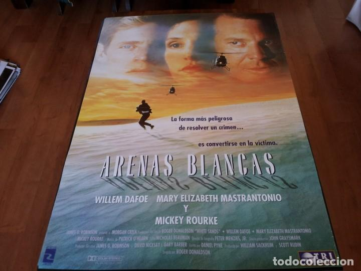 ARENAS BLANCAS - WILLEM DAFOE, MARY ELIZABETH MASTRANTONIO, MICKEY ROURKE - POSTER ORIGINAL 1992 (Cine - Posters y Carteles - Suspense)