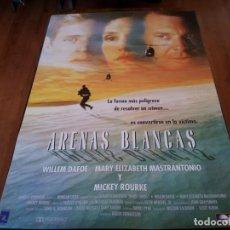 Cine: ARENAS BLANCAS - WILLEM DAFOE, MARY ELIZABETH MASTRANTONIO, MICKEY ROURKE - POSTER ORIGINAL 1992. Lote 235433500