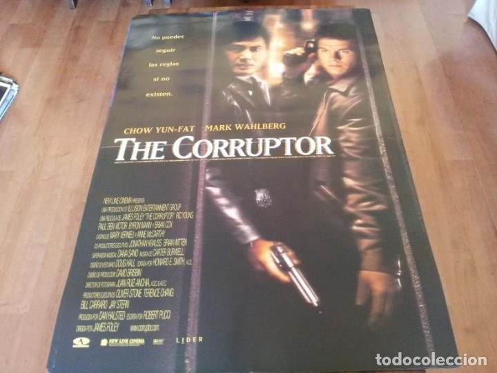 THE CORRUPTOR - CHOW YUN-FAT, MARK WAHLBERG, RIC YOUNG - POSTER ORIGINAL AURUM 1999 (Cine - Posters y Carteles - Acción)
