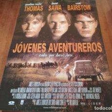 Cine: JÓVENES AVENTUREROS - JONATHAN TAYLOR THOMAS, DEVON SAWA,SCOTT BAIRSTOW - POSTER ORIGINAL AURUM 1997. Lote 235436605