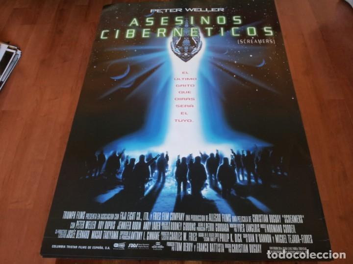 ASESINOS CIBERNÉTICOS - PETER WELLER, ROY DUPUIS, JENNIFER RUBIN - POSTER ORIGINAL COLUMBIA 1995 (Cine - Posters y Carteles - Ciencia Ficción)