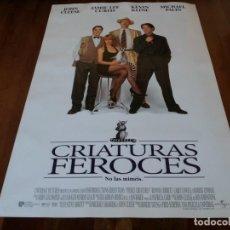 Cine: CRIATURAS FEROCES - JAMIE LEE CURTIS, KEVIN KLINE, MICHAEL PALIN - POSTER ORIGINAL U.I.P 1997. Lote 253553595