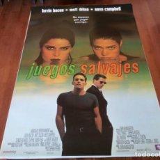 Cine: JUEGOS SALVAJES - KEVIN BACON, MATT DILLON, DENISE RICHARDS - POSTER ORIGINAL TRIPICTURES 1998. Lote 235445685