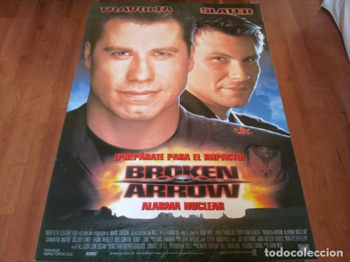 BROKEN ARROW ALARMA NUCLEAR - CHRISTIAN SLATER, JOHN TRAVOLTA, S. MATHIS - POSTER ORIGINAL FOX 1996 (Cine - Posters y Carteles - Acción)