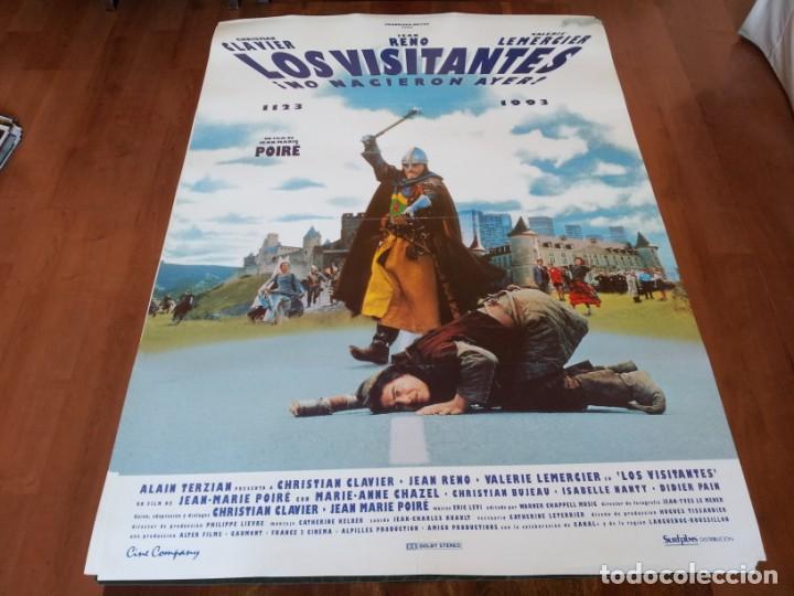 LOS VISITANTES - JEAN RENO, CHRISTIAN CLAVIER, VALERIE LEMERCIER - POSTER ORIGINAL CINE COMPANY 1993 (Cine - Posters y Carteles - Comedia)