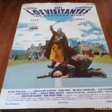 Cine: LOS VISITANTES - JEAN RENO, CHRISTIAN CLAVIER, VALERIE LEMERCIER - POSTER ORIGINAL CINE COMPANY 1993. Lote 235448820