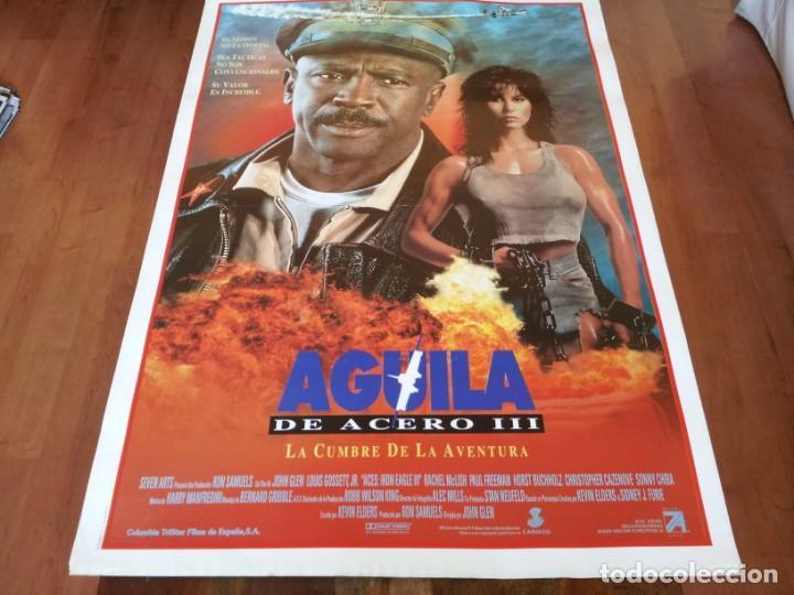 ÁGUILA DE ACERO III - LOUIS GOSSETT JR., RACHEL MCLISH, PAUL FREEMAN - POSTER ORIGINAL COLUMBIA 1992 (Cine - Posters y Carteles - Acción)