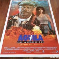 Cine: ÁGUILA DE ACERO III - LOUIS GOSSETT JR., RACHEL MCLISH, PAUL FREEMAN - POSTER ORIGINAL COLUMBIA 1992. Lote 235449805