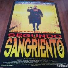 Cine: SEGUNDO SANGRIENTO - RUTGER HAUER, NEIL DUNCAN, KIM CATTRALL - POSTER ORIGINAL COLUMBIA 1992. Lote 235450905