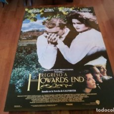 Cine: REGRESO A HOWARDS END - EMMA THOMPSON, ANTHONY HOPKINS - POSTER ORIGINAL WARNER 1992. Lote 235455860