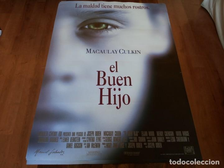 EL BUEN HIJO - MACAULAY CULKIN, ELIJAH WOOD, WENDY CREWSON, DAVID MORSE - POSTER ORIGINAL FOX 1993 (Cine - Posters y Carteles - Suspense)