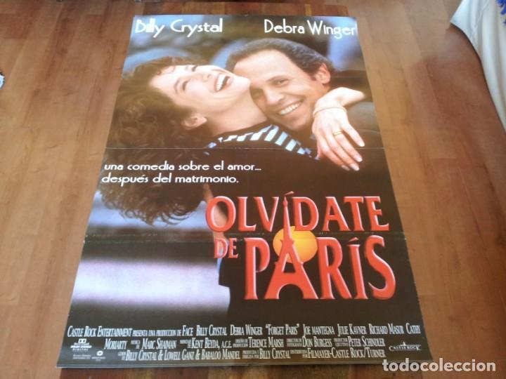 OLVIDATE DE PARIS - BILLY CRYSTAL, DEBRA WINGER, WILLIAM HICKEY - POSTER ORIGINAL FILMAYER AÑO 1995 (Cine - Posters y Carteles - Comedia)