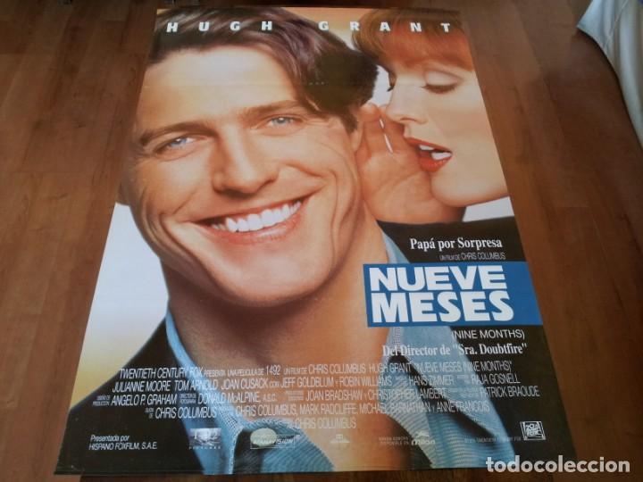 NUEVE MESES - HUGH GRANT, JULIANNE MOORE, TOM ARNOLD - POSTER ORIGINAL FOX AÑO 1995 (Cine - Posters y Carteles - Comedia)