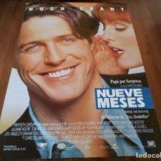 Cine: NUEVE MESES - HUGH GRANT, JULIANNE MOORE, TOM ARNOLD - POSTER ORIGINAL FOX AÑO 1995. Lote 235525525