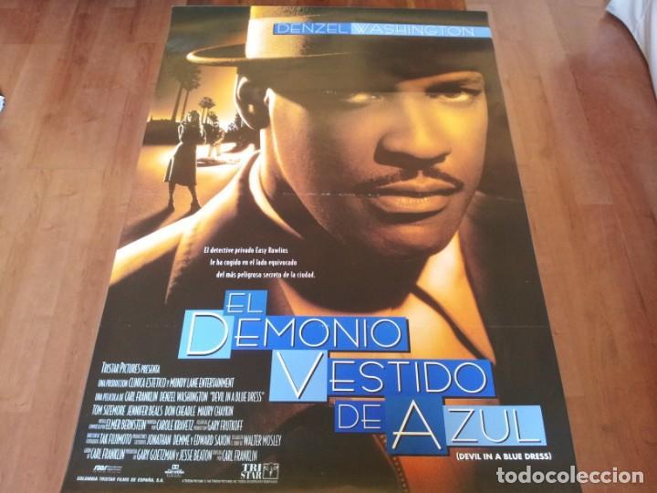 EL DEMONIO VESTIDO DE AZUL - DENZEL WASHINGTON, JENNIFER BEALS - POSTER ORIGINAL COLUMBIA 1995 (Cine - Posters y Carteles - Suspense)