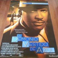 Cine: EL DEMONIO VESTIDO DE AZUL - DENZEL WASHINGTON, JENNIFER BEALS - POSTER ORIGINAL COLUMBIA 1995. Lote 235527020