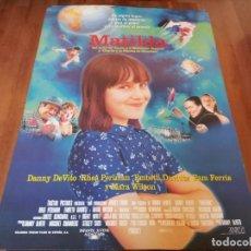 Cine: MATILDA - MARA WILSON, DANNY DEVITO, RHEA PERLMAN - POSTER ORIGINAL COLUMBIA 1996. Lote 235528120