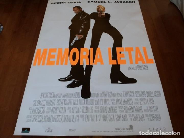 MEMORIA LETAL - GEENA DAVIS, SAMUEL L. JACKSON, RENNY HARLIN - POSTER ORIGINAL AURUM 1996 (Cine - Posters y Carteles - Acción)