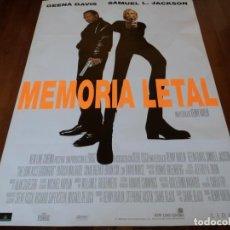 Cine: MEMORIA LETAL - GEENA DAVIS, SAMUEL L. JACKSON, RENNY HARLIN - POSTER ORIGINAL AURUM 1996. Lote 235529500