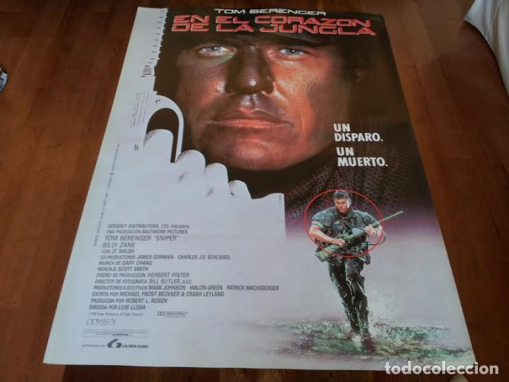 EN EL CORAZÓN DE LA JUNGLA - TOM BERENGER, BILLY ZANE, REYNALDO ARENAS - POSTER ORIGINAL LAUREN 1993 (Cine - Posters y Carteles - Acción)
