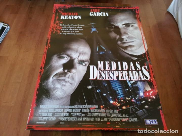 MEDIDAS DESESPERADAS - MICHAEL KEATON, ANDY GARCÍA, BRIAN COX - POSTER ORIGINAL TRIPICTURES 1997 (Cine - Posters y Carteles - Suspense)