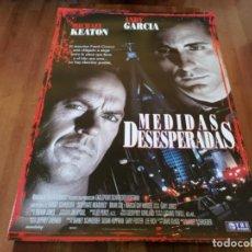 Cine: MEDIDAS DESESPERADAS - MICHAEL KEATON, ANDY GARCÍA, BRIAN COX - POSTER ORIGINAL TRIPICTURES 1997. Lote 235531830