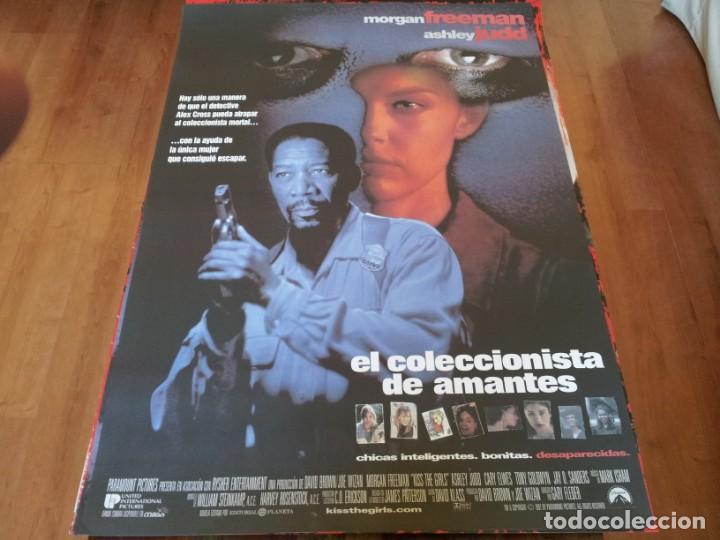 EL COLECCIONISTA DE AMANTES - MORGAN FREEMAN, ASHLEY JUDD, CARY ELWES - POSTER ORIGINAL U.I.P 1997 (Cine - Posters y Carteles - Suspense)