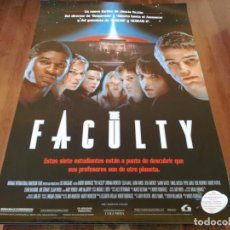 Cine: THE FACULTY - ELIJAH WOOD, JORDANA BREWSTER, JOSH HARTNETT - POSTER ORIGINAL LAUREN 1998. Lote 235536215