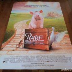 Cine: BABE, EL CERDITO EN LA CIUDAD - JAMES CROMWELL, MICKEY ROONEY - POSTER ORIGINAL U.I.P 1998. Lote 235537135
