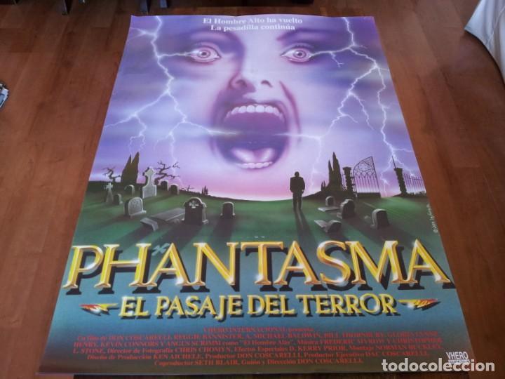 PHANTASMA EL PASAJE DEL TERROR - REGGIE BANNISTER, A. MICHAEL BALDWIN - POSTER ORIGINAL VHERO 1994 (Cine - Posters y Carteles - Terror)