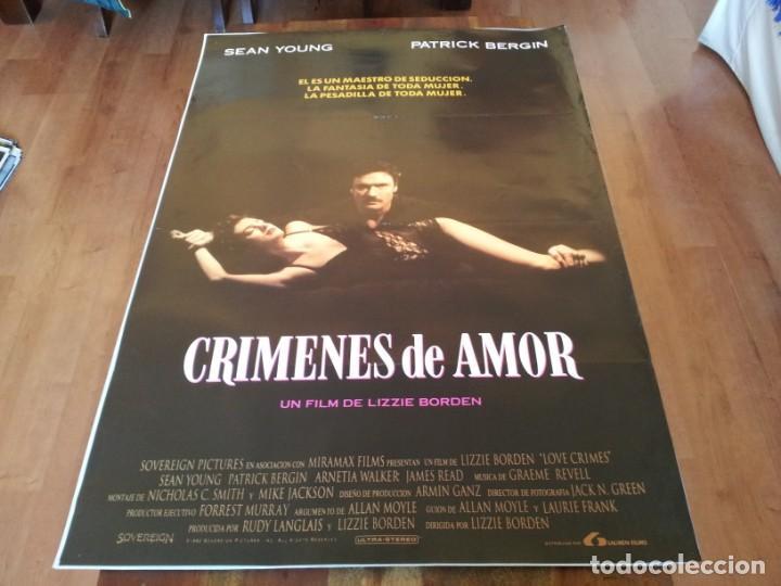 CRÍMENES DE AMOR - SEAN YOUNG, PATRICK BERGIN, ARNETIA WALKER - POSTER ORIGINAL LAUREN 1992 (Cine - Posters y Carteles - Suspense)
