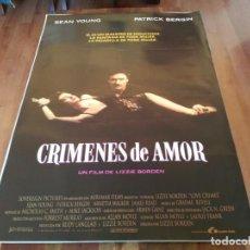 Cine: CRÍMENES DE AMOR - SEAN YOUNG, PATRICK BERGIN, ARNETIA WALKER - POSTER ORIGINAL LAUREN 1992. Lote 235544075