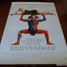 Cine: LA TRIBU DE LOS KRIPPENDORF - RICHARD DREYFUSS, JENNA ELFMAN - POSTER ORIGINAL BUENAVISTA 1998. Lote 235545630