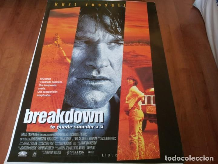 BREAKDOWN - KURT RUSSELL, KATHLEEN QUINLAN, J.T.WALS - POSTER ORIGINAL AURUM 1997 (Cine - Posters y Carteles - Comedia)