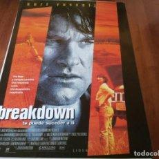 Cine: BREAKDOWN - KURT RUSSELL, KATHLEEN QUINLAN, J.T.WALS - POSTER ORIGINAL AURUM 1997. Lote 235546120