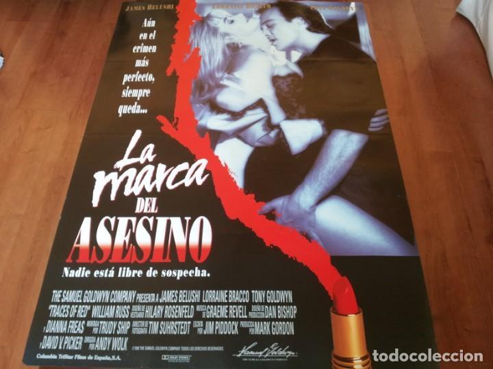 LA MARCA DEL ASESINO - JAMES BELUSHI, LORRAINE BRACCO, TONY GOLDWYN - POSTER ORIGINAL COLUMBIA 1992 (Cine - Posters y Carteles - Suspense)